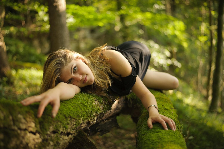 outdoor, spring, green, woods, shooting, portrait